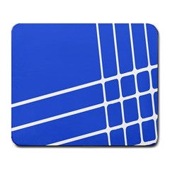 Line Stripes Blue Large Mousepads by Mariart