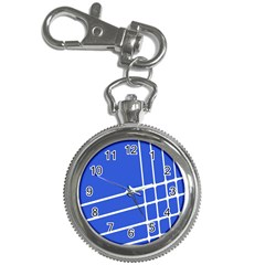 Line Stripes Blue Key Chain Watches by Mariart