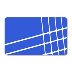 Line Stripes Blue Magnet (rectangular) by Mariart