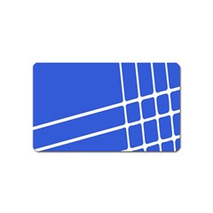 Line Stripes Blue Magnet (name Card) by Mariart