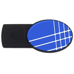 Line Stripes Blue Usb Flash Drive Oval (2 Gb) by Mariart