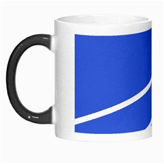 Line Stripes Blue Morph Mugs by Mariart