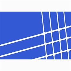 Line Stripes Blue Canvas 12  X 18   by Mariart