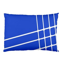 Line Stripes Blue Pillow Case by Mariart