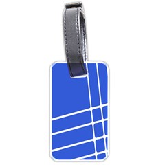Line Stripes Blue Luggage Tags (two Sides) by Mariart