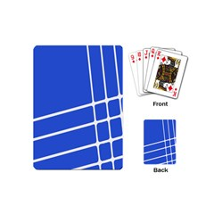 Line Stripes Blue Playing Cards (mini)  by Mariart