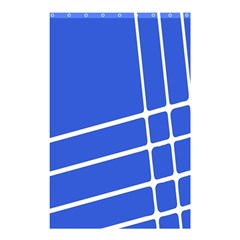 Line Stripes Blue Shower Curtain 48  X 72  (small)  by Mariart