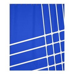Line Stripes Blue Shower Curtain 60  X 72  (medium)  by Mariart