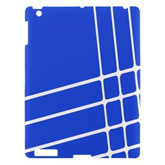 Line Stripes Blue Apple Ipad 3/4 Hardshell Case by Mariart
