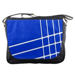 Line Stripes Blue Messenger Bags by Mariart