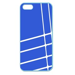 Line Stripes Blue Apple Seamless Iphone 5 Case (color) by Mariart