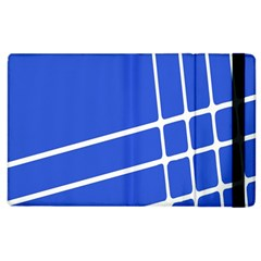 Line Stripes Blue Apple Ipad 2 Flip Case by Mariart