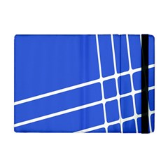 Line Stripes Blue Apple Ipad Mini Flip Case by Mariart