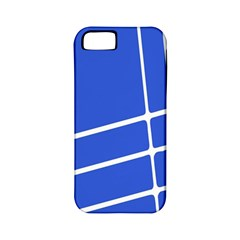 Line Stripes Blue Apple Iphone 5 Classic Hardshell Case (pc+silicone) by Mariart