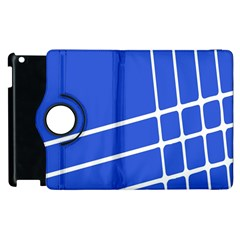 Line Stripes Blue Apple Ipad 2 Flip 360 Case by Mariart