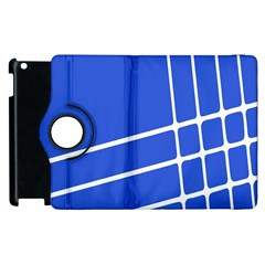 Line Stripes Blue Apple Ipad 3/4 Flip 360 Case by Mariart