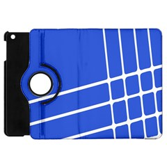 Line Stripes Blue Apple Ipad Mini Flip 360 Case by Mariart