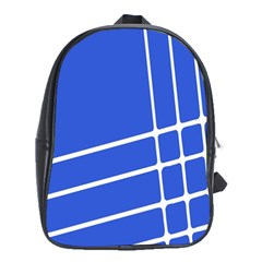 Line Stripes Blue School Bags (xl)  by Mariart