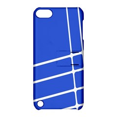Line Stripes Blue Apple Ipod Touch 5 Hardshell Case With Stand by Mariart