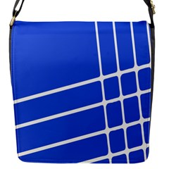 Line Stripes Blue Flap Messenger Bag (s) by Mariart