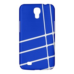 Line Stripes Blue Samsung Galaxy Mega 6 3  I9200 Hardshell Case by Mariart