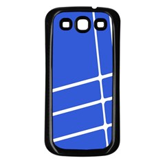 Line Stripes Blue Samsung Galaxy S3 Back Case (black) by Mariart