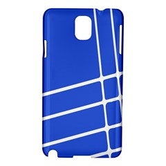 Line Stripes Blue Samsung Galaxy Note 3 N9005 Hardshell Case by Mariart