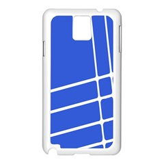 Line Stripes Blue Samsung Galaxy Note 3 N9005 Case (white) by Mariart