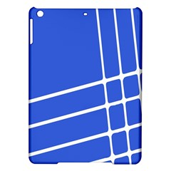 Line Stripes Blue Ipad Air Hardshell Cases by Mariart