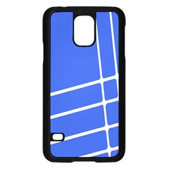 Line Stripes Blue Samsung Galaxy S5 Case (black) by Mariart
