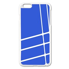 Line Stripes Blue Apple Iphone 6 Plus/6s Plus Enamel White Case by Mariart