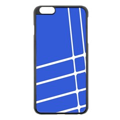 Line Stripes Blue Apple Iphone 6 Plus/6s Plus Black Enamel Case by Mariart