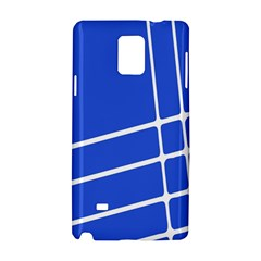 Line Stripes Blue Samsung Galaxy Note 4 Hardshell Case by Mariart