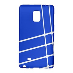 Line Stripes Blue Galaxy Note Edge by Mariart