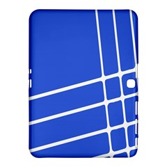 Line Stripes Blue Samsung Galaxy Tab 4 (10 1 ) Hardshell Case  by Mariart