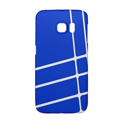 Line Stripes Blue Galaxy S6 Edge by Mariart