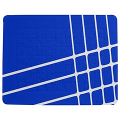 Line Stripes Blue Jigsaw Puzzle Photo Stand (rectangular) by Mariart