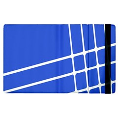 Line Stripes Blue Apple Ipad Pro 12 9   Flip Case by Mariart