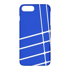Line Stripes Blue Apple Iphone 7 Plus Hardshell Case by Mariart