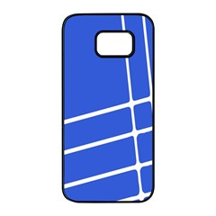 Line Stripes Blue Samsung Galaxy S7 Edge Black Seamless Case by Mariart