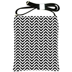 Funky Chevron Stripes Triangles Shoulder Sling Bags by Mariart