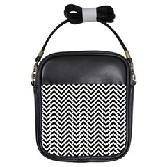 Funky Chevron Stripes Triangles Girls Sling Bags by Mariart