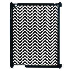 Funky Chevron Stripes Triangles Apple Ipad 2 Case (black)