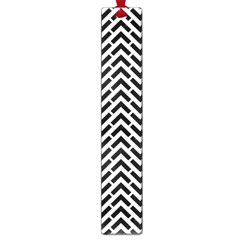 Funky Chevron Stripes Triangles Large Book Marks by Mariart