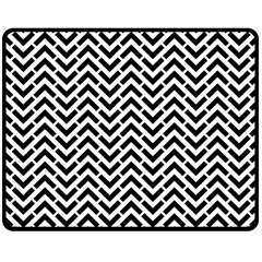 Funky Chevron Stripes Triangles Double Sided Fleece Blanket (medium)  by Mariart