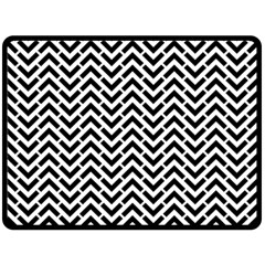 Funky Chevron Stripes Triangles Double Sided Fleece Blanket (large)