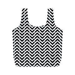 Funky Chevron Stripes Triangles Full Print Recycle Bags (m)  by Mariart