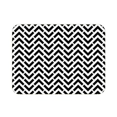 Funky Chevron Stripes Triangles Double Sided Flano Blanket (mini)  by Mariart