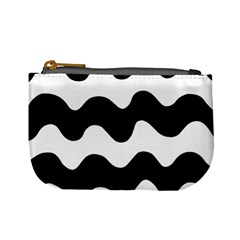 Lokki Cotton White Black Waves Mini Coin Purses by Mariart