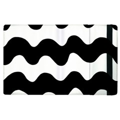 Lokki Cotton White Black Waves Apple Ipad 3/4 Flip Case by Mariart